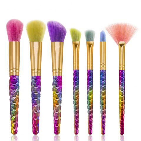 Outfit Hair Color Hair Beehive Make-up Brush 7PCS