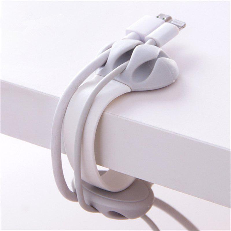 Outfit Bobbin Winder Data Cable Storage Line Fixing Device Clamp
