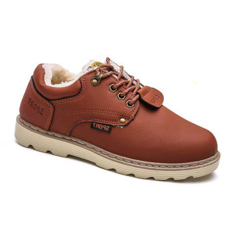 Sale ZEACAVA Men Casual Outdoor Business Formal Wedding Leather Lace Up Trend for Fashion Cotton Shoes