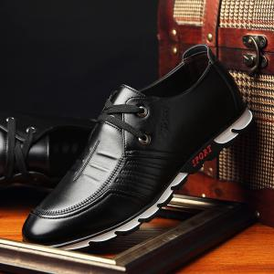 ZEACAVA Men Business Low Leather Shoes -