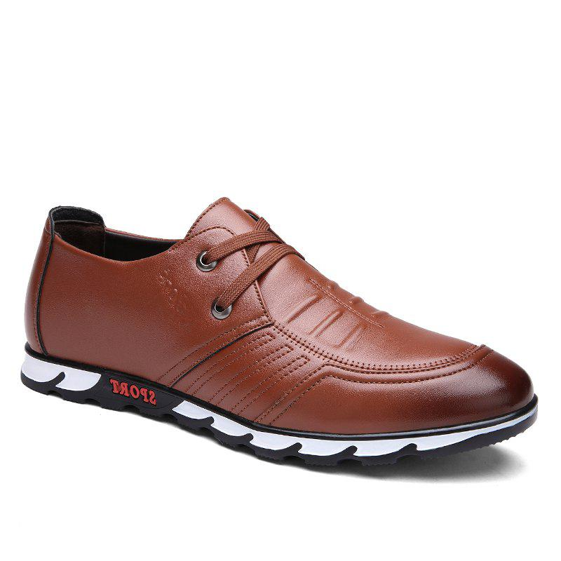 Fancy ZEACAVA Men Business Low Leather Shoes
