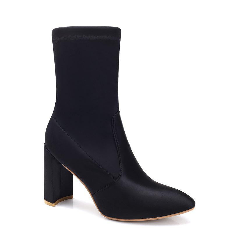 New Fashion Point Thick Spandex Ladies Boots