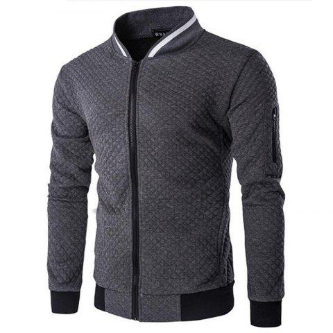 Outfit Men's Daily Simple Casual Spring Fall Stand Long Sleeve Jacket