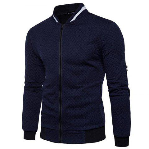 Outfits Men's Daily Simple Casual Spring Fall Stand Long Sleeve Jacket
