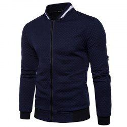 Men's Daily Simple Casual Spring Fall Stand Long Sleeve Jacket -