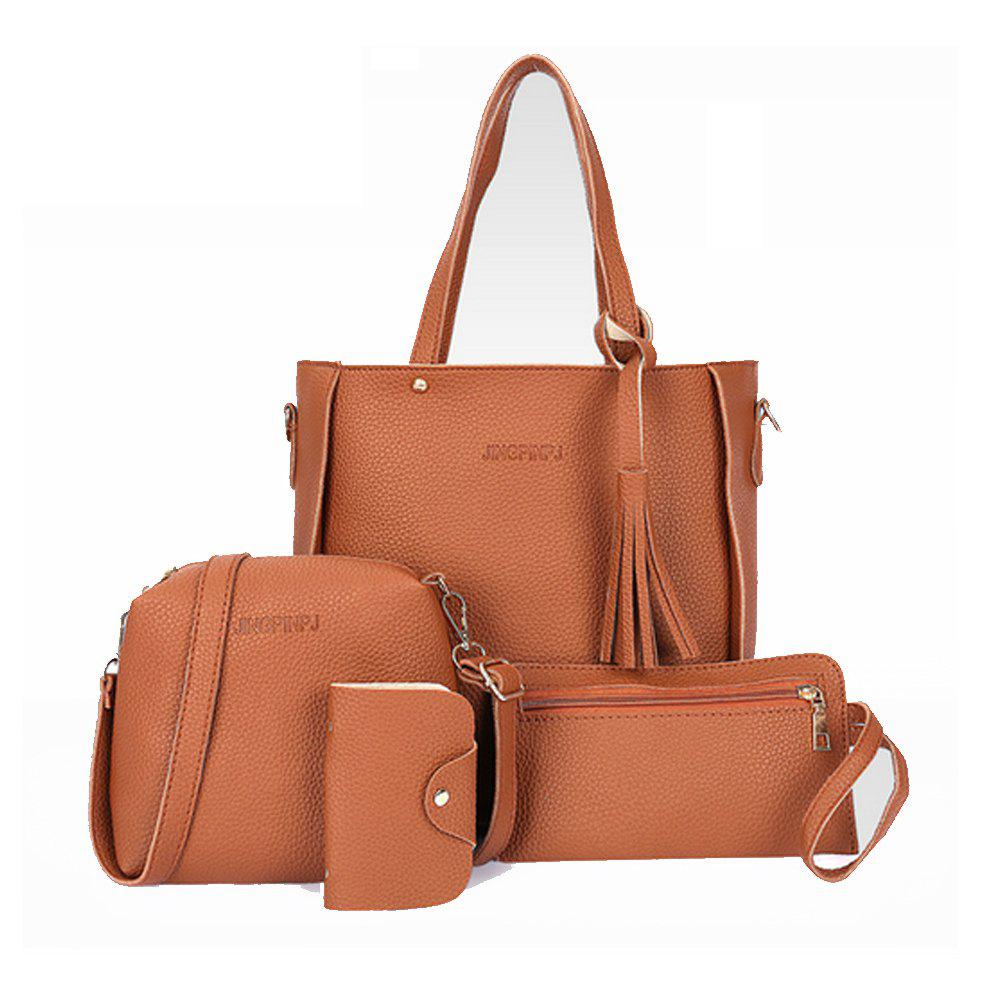 New Women's Shoulder Classy Faux Leather All Match Bags Set