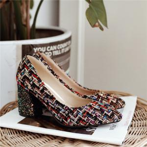 Miss Shoes Bk07-5 Shallow-Mouth High Heel Single Shoes -