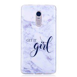 Girl Marbling Phone Case for Xiaomi Redmi Note 4 / Note 4X Trend Fashion Soft Silicone TPU Cover Cases -