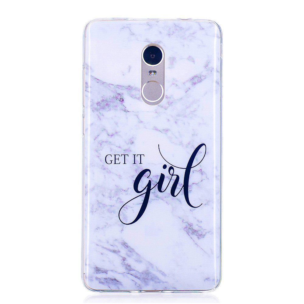 Affordable Girl Marbling Phone Case for Xiaomi Redmi Note 4 / Note 4X Trend Fashion Soft Silicone TPU Cover Cases