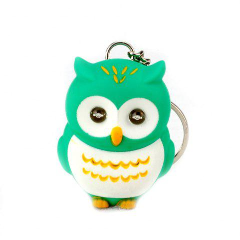 Cheap LED Owl Vocal Lighting Key Chain Creative Gift Animal Pendant