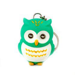 LED Owl Vocal Lighting Key Chain Creative Gift Animal Pendant -