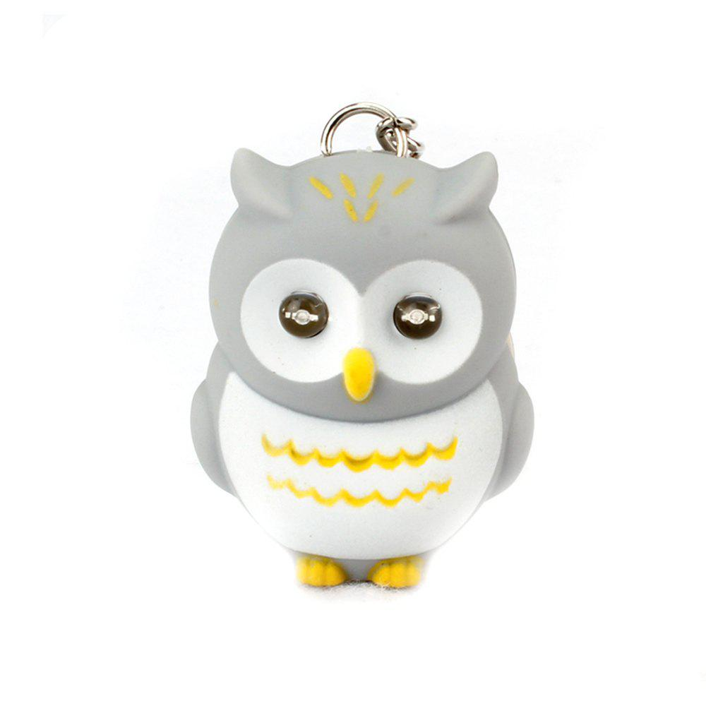 Discount LED Owl Vocal Lighting Key Chain Creative Gift Animal Pendant