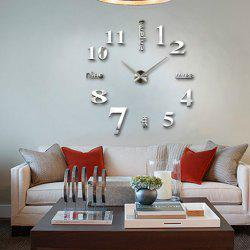 3D Big Wall Clock Mirror Sticker Diy Living Room Decor -