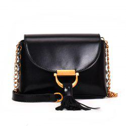 Chain Bag Hit Color Tassel Messenger Shoulder Bag -