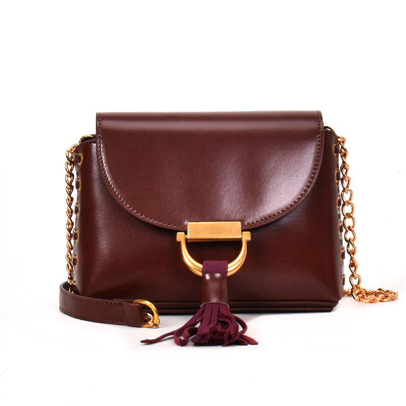 Цепная сумка Hit Color Tassel Messenger Shoulder Bag
