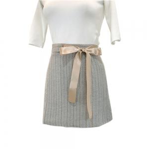 Tweed Sweet Tied  Bow  Skirt -