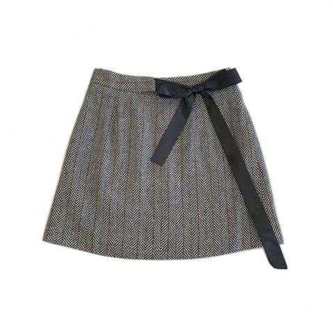 Cheap Tweed Sweet Tied  Bow  Skirt