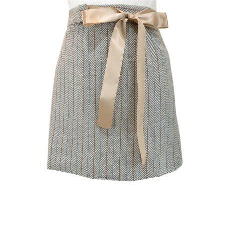 Best Tweed Sweet Tied  Bow  Skirt