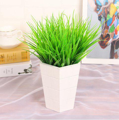Buy 4Pcs Artificial Plants Pastoral Style Green Grass Home Decoration