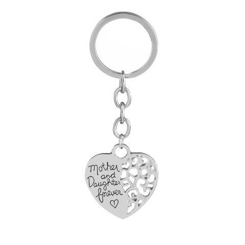 Hot Mother Daughter Eternal Love Alloy Keychain