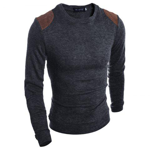Unique Pure Color  Fashion Men Sweater
