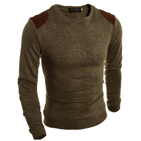 Cheap Pure Color  Fashion Men Sweater