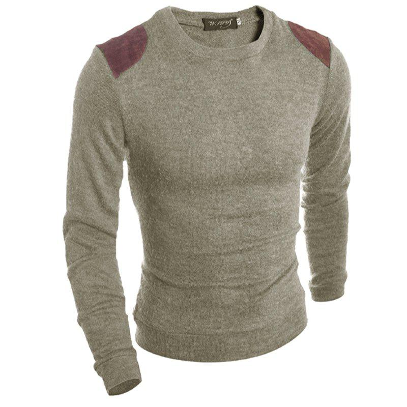 New Pure Color  Fashion Men Sweater