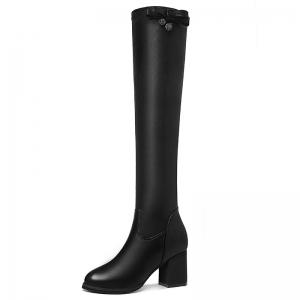 Round Head Thick Heels Female Boots -