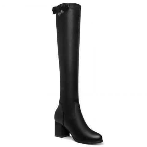 Trendy Round Head Thick Heels Female Boots