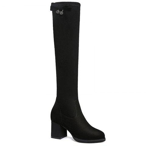 New Round Head Thick Heels Female Boots
