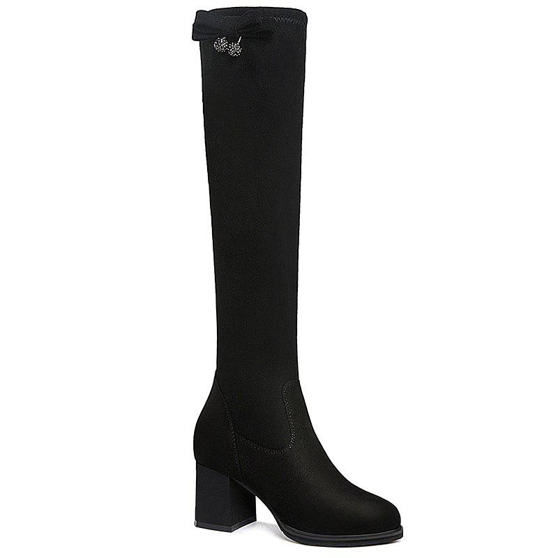 Store Round Head Thick Heels Female Boots