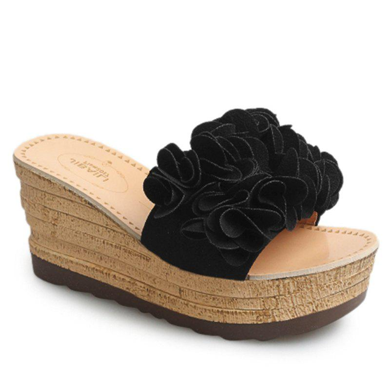 Best Thick Bottom High Heel Antiskid Flower Cool Slippers