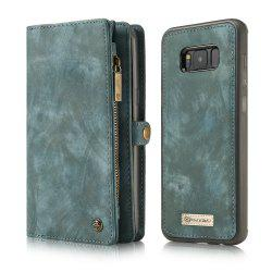 CaseMe for Samsung Galaxy S8 Case Flip Kickstand Feature PU Leather Wallet with ID and Credit Card Pockets -