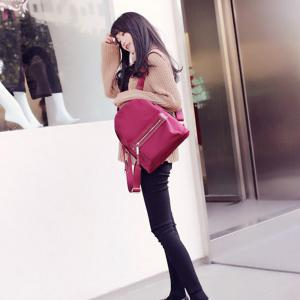 Woman's New Style Backpack Female Nylon Fashion Backpack Bag -