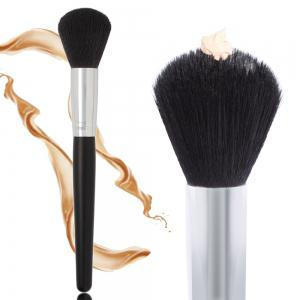 1pc Wooden Black Foundation Brush Beauty Tools -