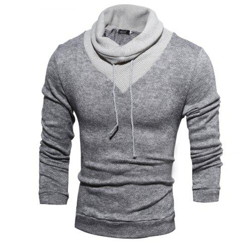 Affordable New  Fashion Hedging High-Necked Solid Color Sweater