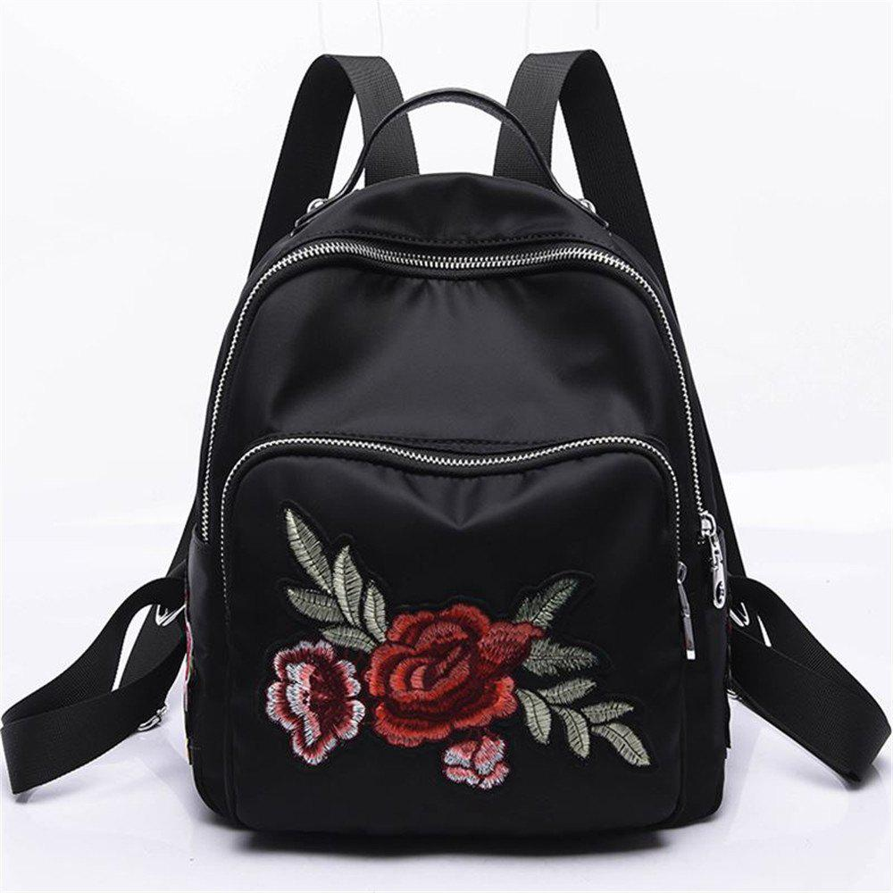 1bb2aeace72c Store Embroidery Peony Flower Women Backpack School Bags For Girls Brand  Animal Shoulder Bag