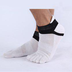 Men'S Cotton Four Seasons Thin Socks Short Tube Movement Toe Socks Mesh Breathable Cotton Five Finger Socks -