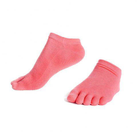 Fashion Female Slip Silicone Socks Sports Socks Toe Sweat Breathable Cotton Yoga Five Finger Socks