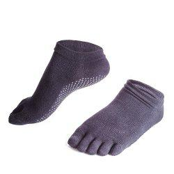 Female Slip Silicone Socks Sports Socks Toe Sweat Breathable Cotton Yoga Five Finger Socks -