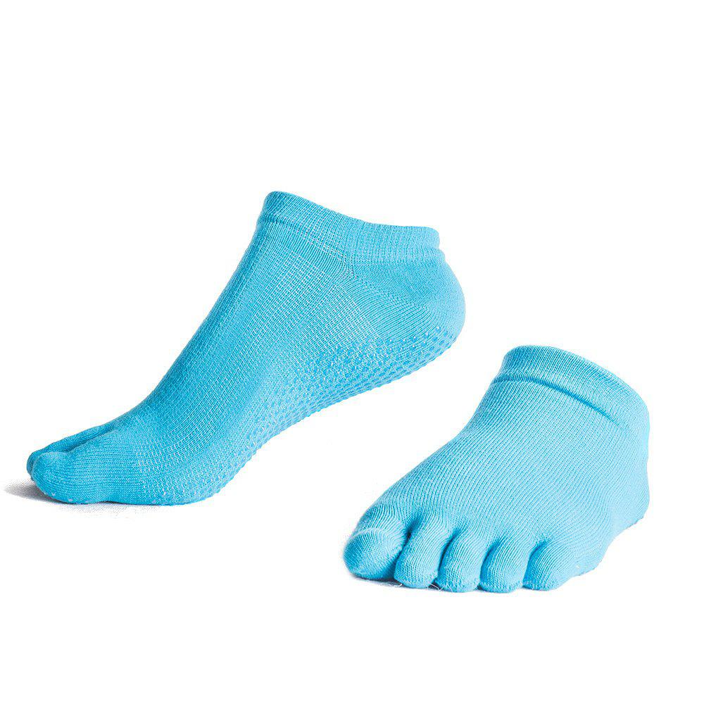Discount Female Slip Silicone Socks Sports Socks Toe Sweat Breathable Cotton Yoga Five Finger Socks