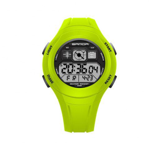 Trendy Sanda 331 1278 Leisure Fashionable Outdoor Sports Multi Function Display Waterproof Electronic Watch