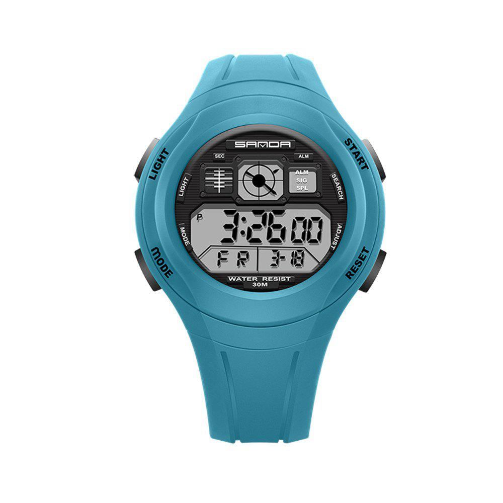 Outfit Sanda 331 1278 Leisure Fashionable Outdoor Sports Multi Function Display Waterproof Electronic Watch