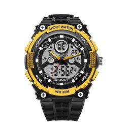 Sanda 709 1293 Stylish Outdoor Sports Trend Pointer Digital Double Display Multi Function Display Waterproof Electronic -