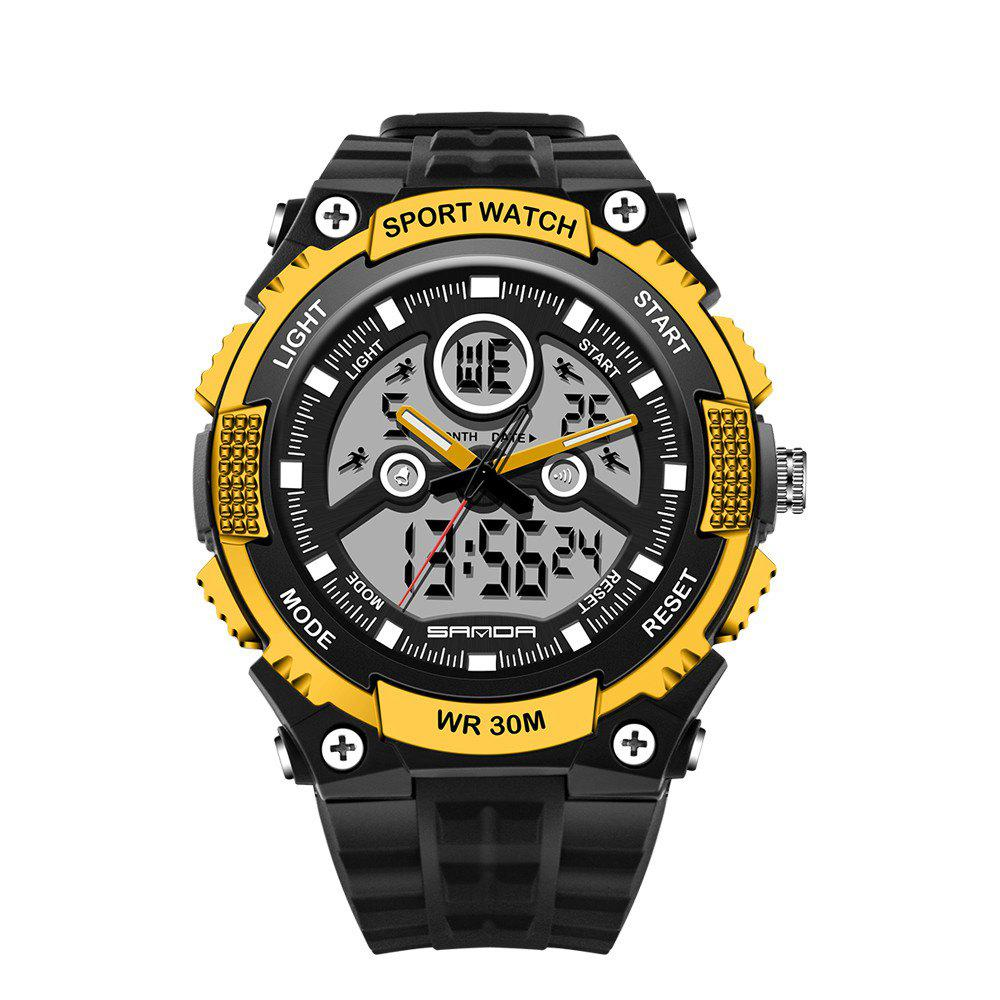 Outfit Sanda 709 1293 Stylish Outdoor Sports Trend Pointer Digital Double Display Multi Function Display Waterproof Electronic