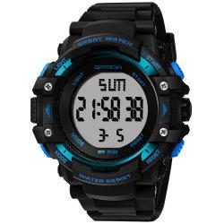 Sanda 348 1294 Outdoor Fashion Trend Date Calendar Shows Multi-Purpose Waterproof Electronic Watch -
