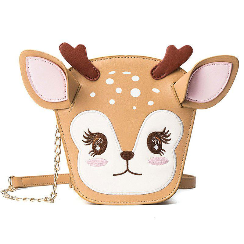 Fashion Ladies Cute Three Dimensional Fawn Messenger Bag Women's  Stitching Hit Color Chain Bags