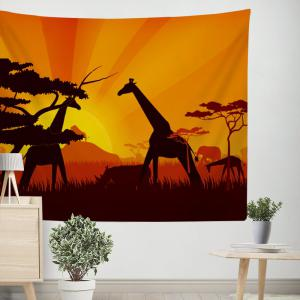 Giraffe Tapestry Wall Hanging  in the Forest Adorn the Bedspread Beaches -