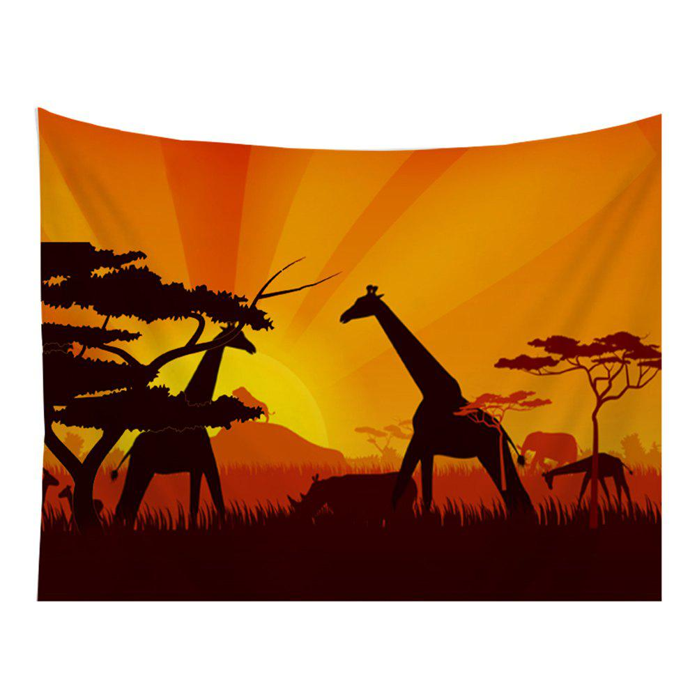 Chic Giraffe Tapestry Wall Hanging  in the Forest Adorn the Bedspread Beaches