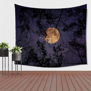 Wolf Tapestry Wall Hanging  of the Forest at Night Adornment Sofa Blanket Tablecloth Bedspread -